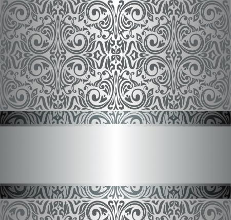 Silver luxury vintage wallpaper Illustration