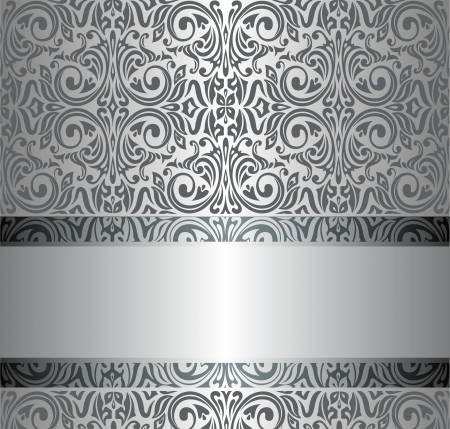 gray texture background: Silver luxury vintage wallpaper Illustration