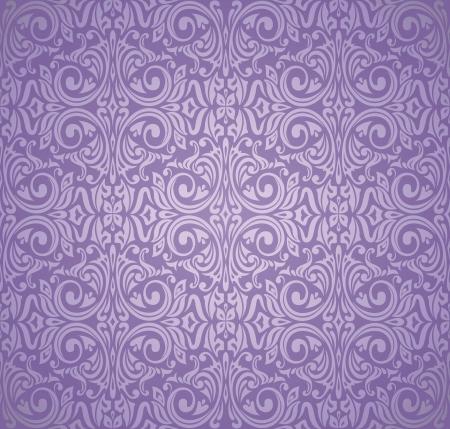 Violett und Silber Luxus vintage wallpaper Standard-Bild - 18764440