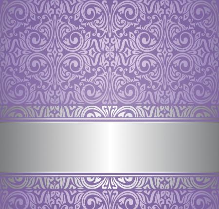viola e argento lusso carta da parati vintage