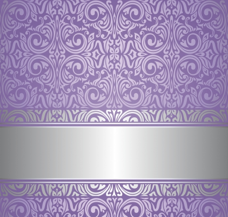violet and silver  luxury vintage wallpaper Stock Vector - 18764348