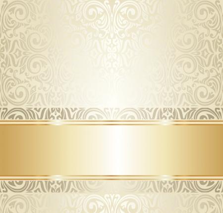 明るい高級ビンテージ壁紙