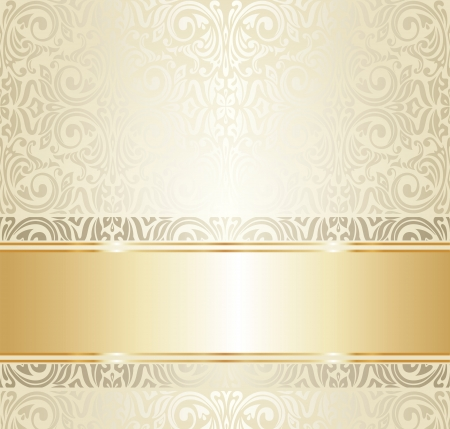 Bright luxury vintage wallpaper Vector