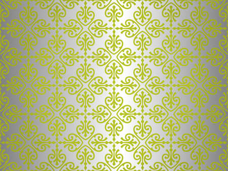 Green    silver  vintage wallpaper design  Vector