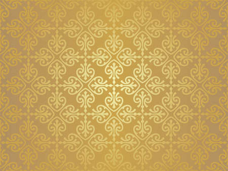 ocher vintage wallpaper Stock Vector - 18866329
