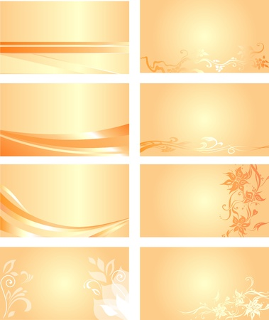 pale: Orange business card background