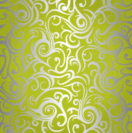 Duvar kağıdı tasarım parlayan yeşil gümüş Illustration
