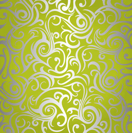 Green    silver  shining vintage wallpaper design  Vector