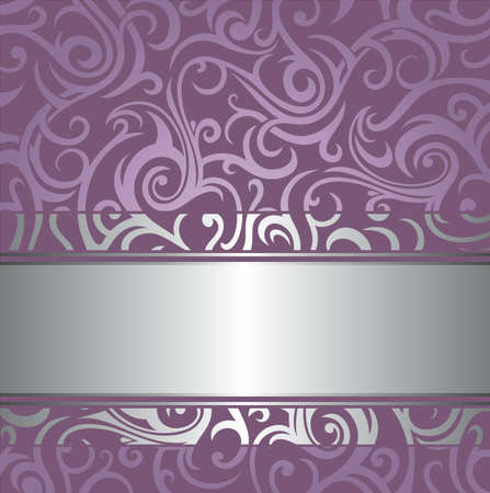 Pale wedding  lavender  luxury vintage design Vector