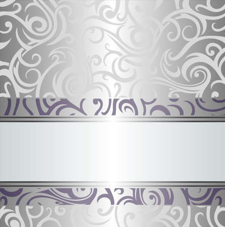 Violet   silver holiday vintage invitation design Vector