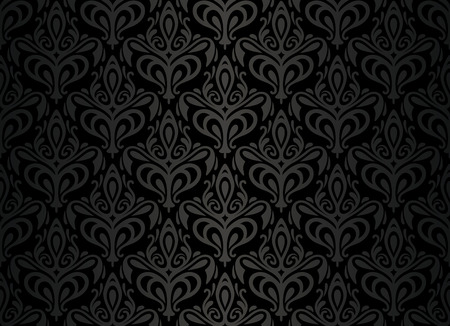 black  vintage wallpaper Stock Vector - 26374339