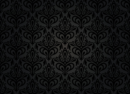 black vintage wallpaper background Stock Vector - 26374344