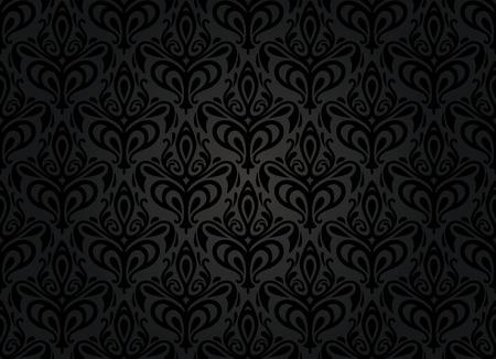 vintage noir fond d'écran Vecteurs