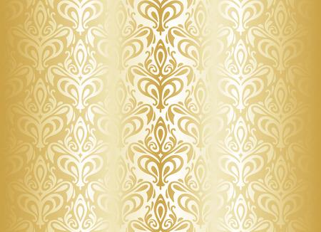明るいゴールド高級ビンテージ壁紙  イラスト・ベクター素材
