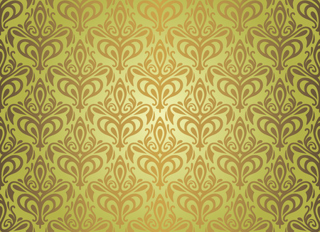 woody: Green   brown vintage wallpaper design