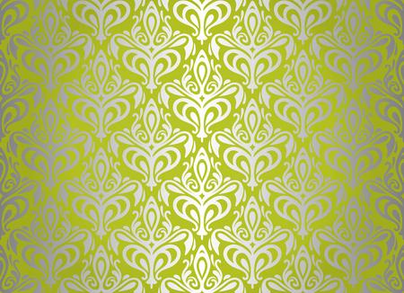 ashy: green   silver vintage wallpaper design