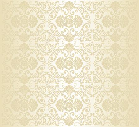 ゴールドのビンテージ壁紙のデザイン