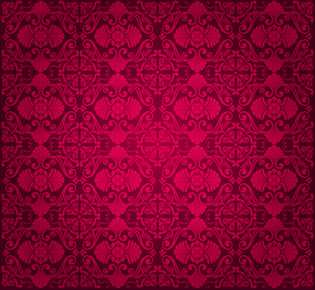 red luxury vintage wallpaper design Vector