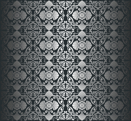 Black   silver luxury vintage wallpaper background