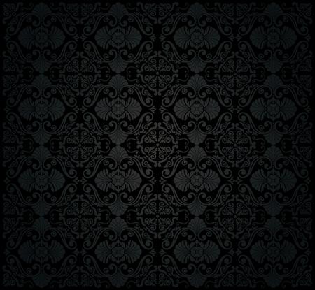 black vintage wallpaper Stock Vector - 26374271