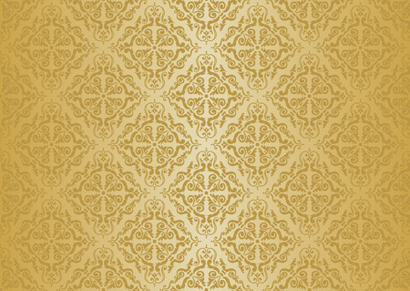 ocher vintage wallpaper  Stock Vector - 26374163