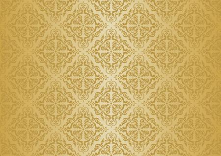 ocher vintage wallpaper Stock Vector - 26374163