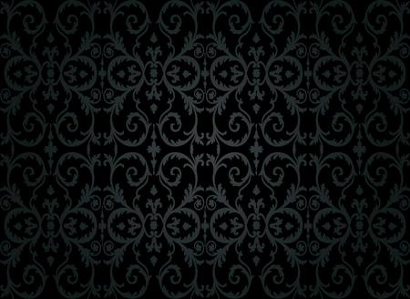 black luxury vintage wallpaper design Stock Vector - 26374200