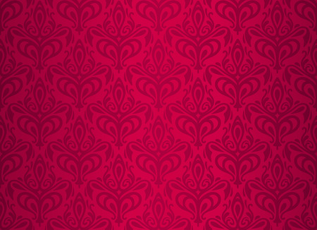 red luxury vintage wallpaper design Stock Vector - 26374203