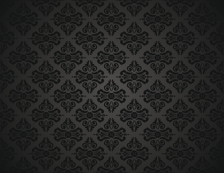 black wallpaper design Stock Vector - 26373829