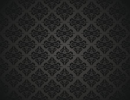 black wallpaper design Stock Vector - 26373829