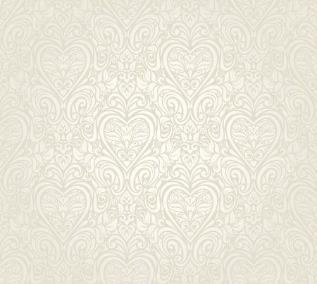 明るい高級ヴィンテージ花柄シームレスな壁紙の背景  イラスト・ベクター素材