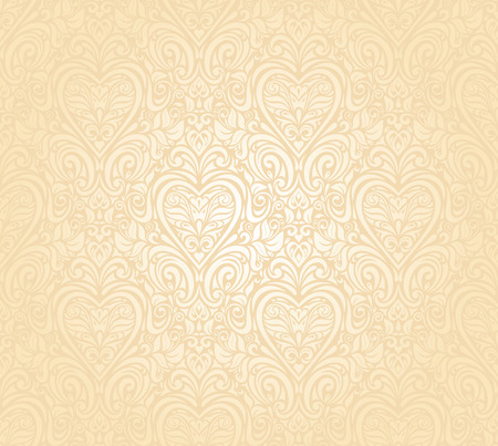gentle peach seamless wedding floral  background Illustration
