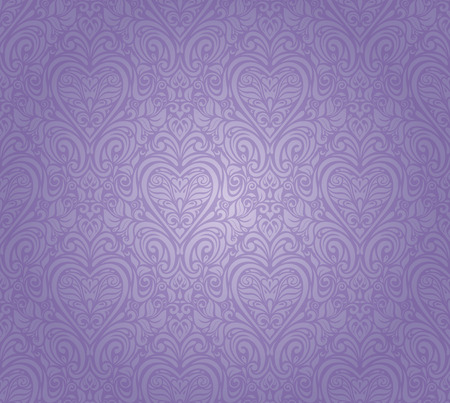 violet vintage seamless floral background design Vector