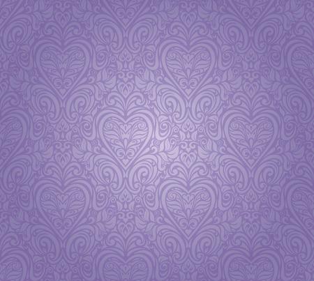 violet vintage seamless floral background design Vector