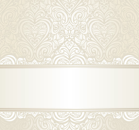 bright wedding vintage ivitation background design Illustration