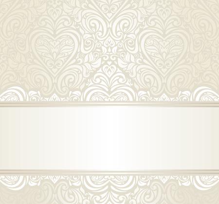 bright wedding vintage ivitation background design Illustration
