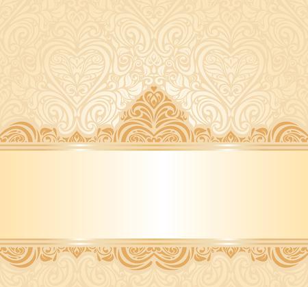 pale ocher: gentle peach wedding invitation floral background