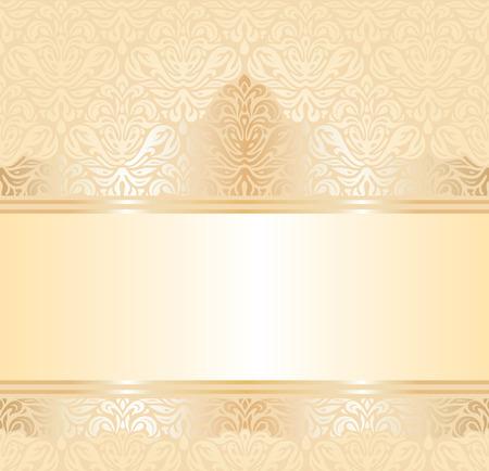 pale ocher: gentle wedding pale peach invitation  background design Illustration