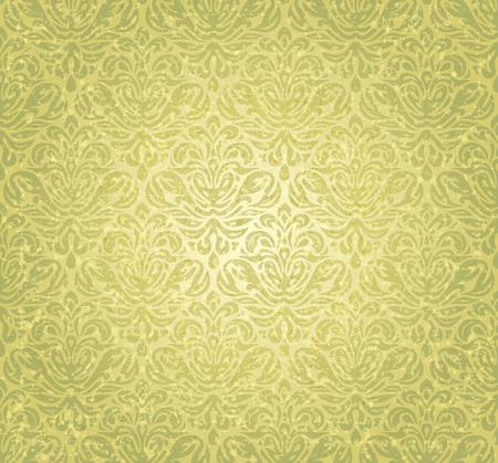 green vintage seamless grunge wallpaper background design