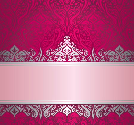 Glanzend rood en zilver luxe vintage Ontwerp van de kerstkaart