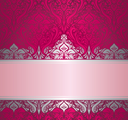 Shiny red and silver  luxury vintage christmas card design