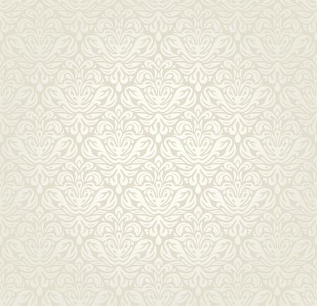 明るい高級ビンテージのウェディング シームレスな壁紙の背景