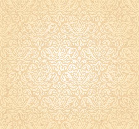 pale ocher: Vintage gentle wedding pale peach grunge background design Illustration