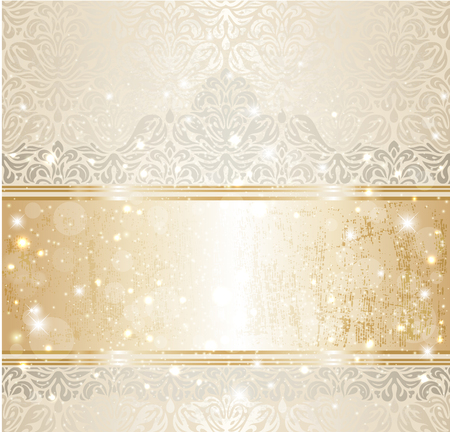 Bright shiny luxury vintage invitation pattern background