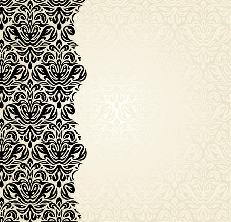 Fashionable ecru and black invitation design background
