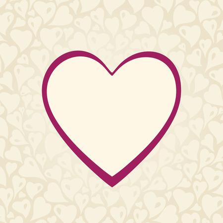 Kopya alanı ve kırmızı kalp ile Düğün bağbozumu Ekru davetiye tasarımı