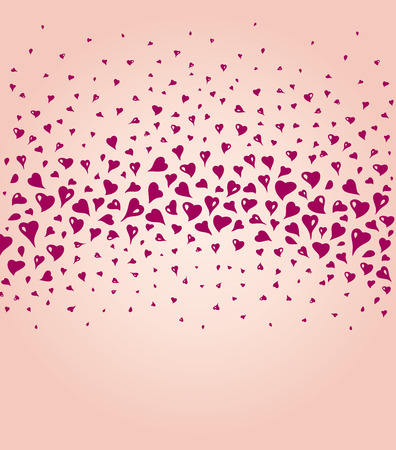 ecru: Lovely ecru fashionable background with red hearts and copy space