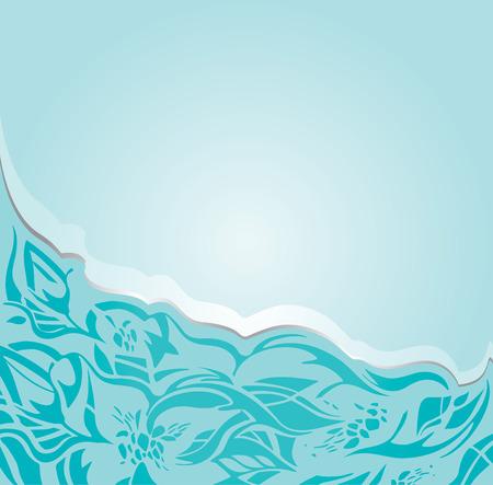 Invitation fond vert-bleu floral en argent et turquoise Banque d'images - 43539288