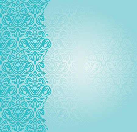 Fashionable blue-green retro turquoise invitation design