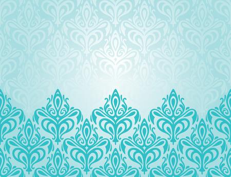 ターコイズの装飾的なレトロな装飾休日背景デザイン